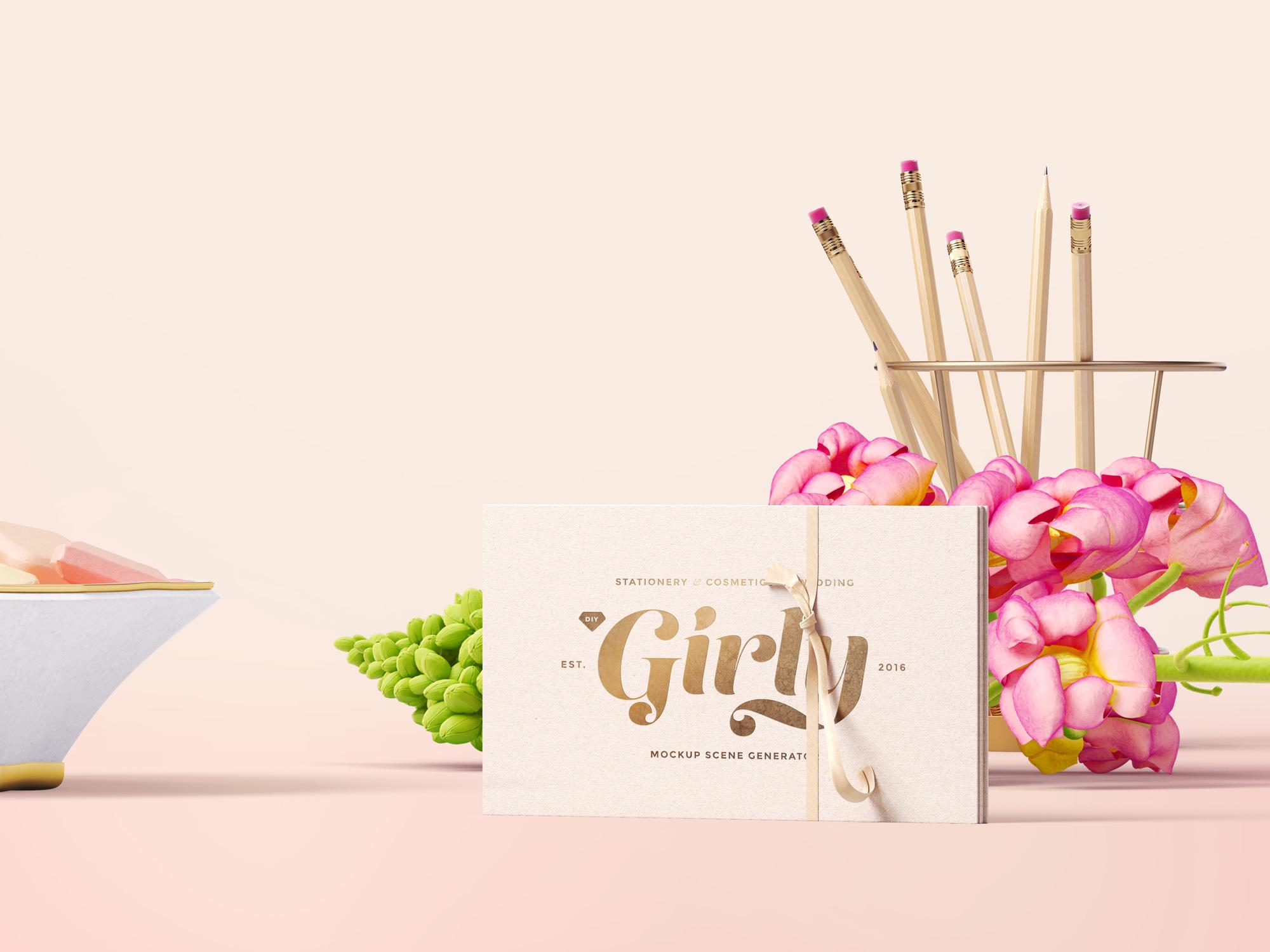 Three Girly Branding Mockups