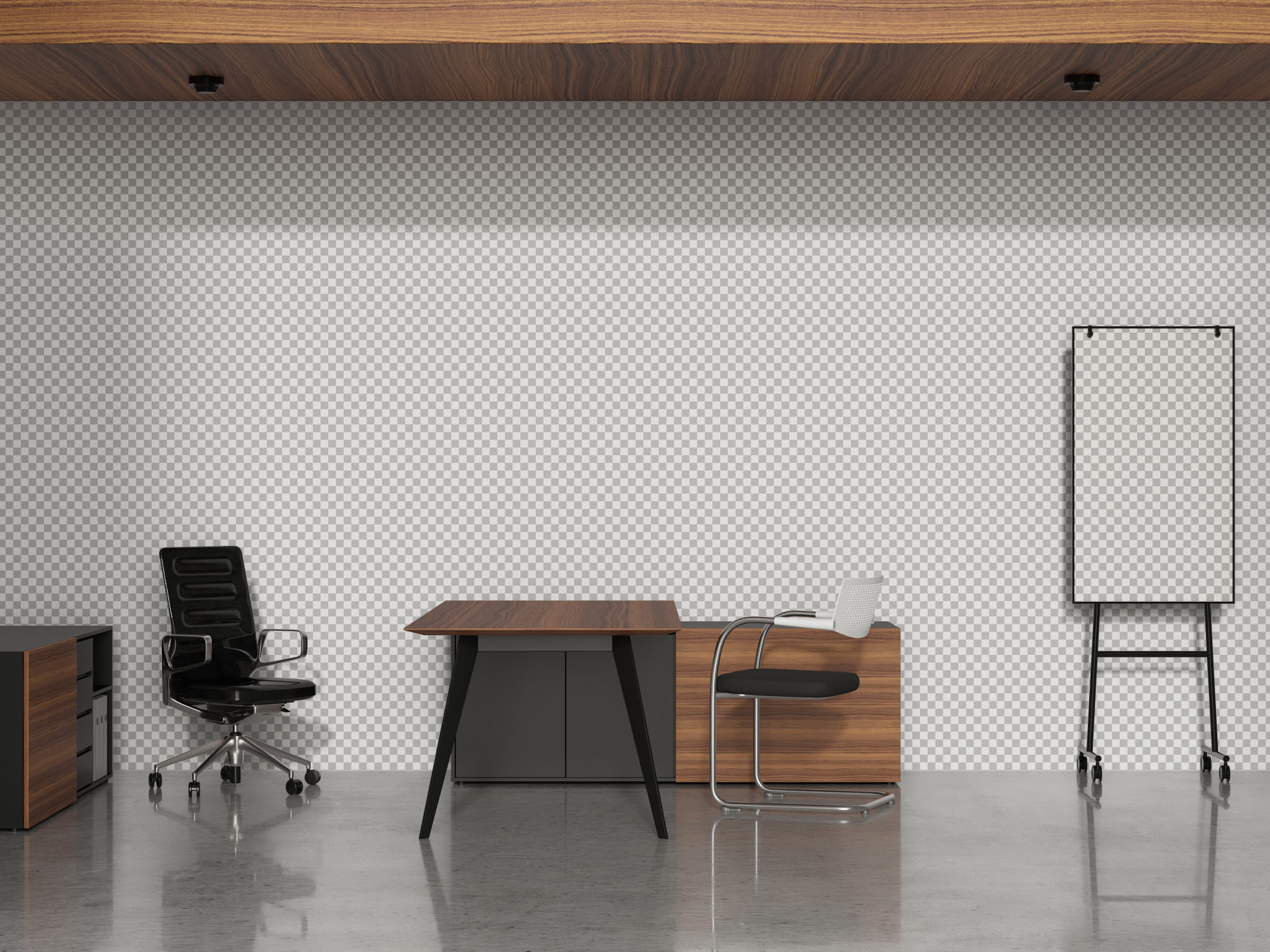 Office Branding Mockup - Transparent