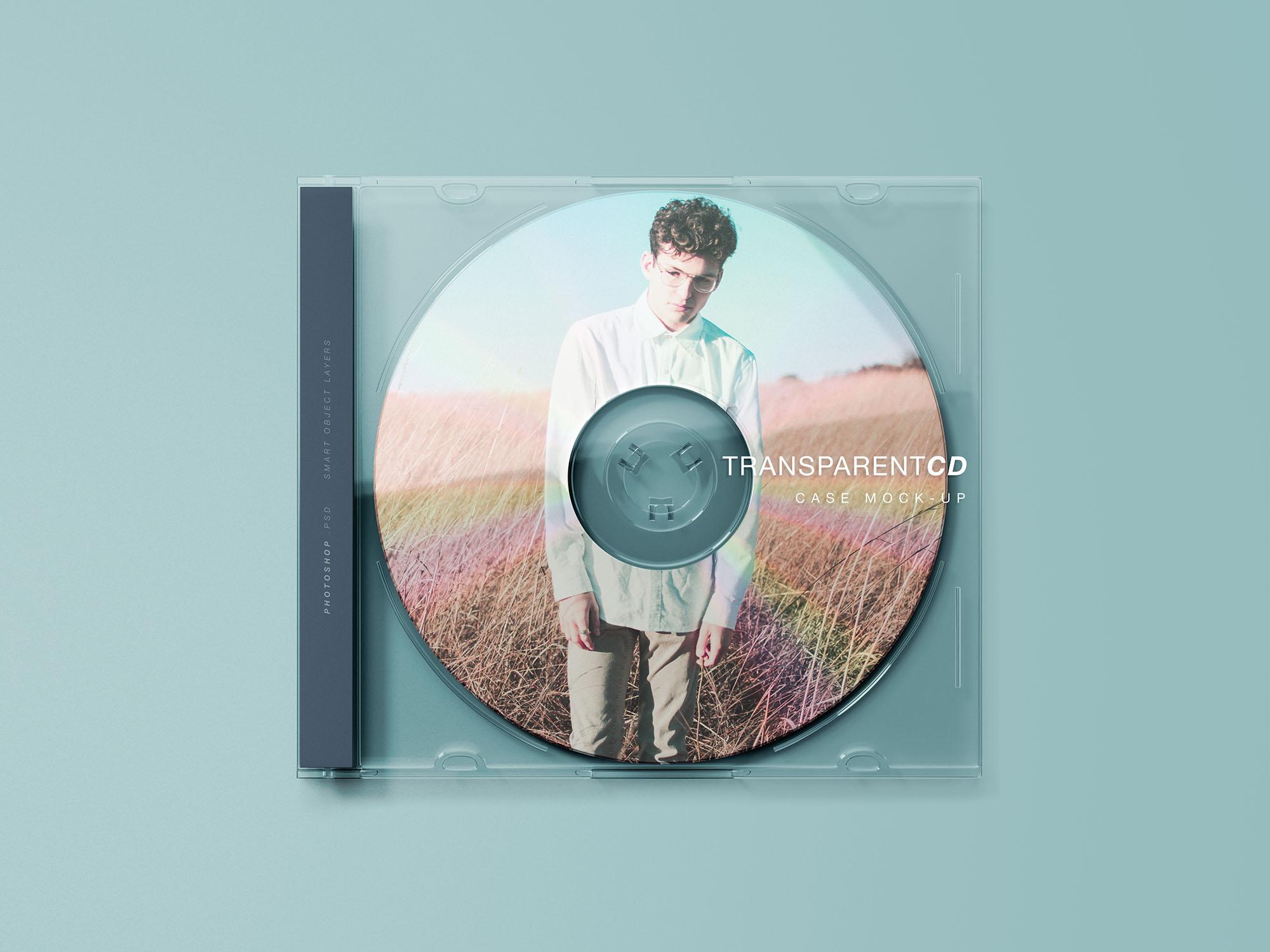 Transparent CD Case Mockup