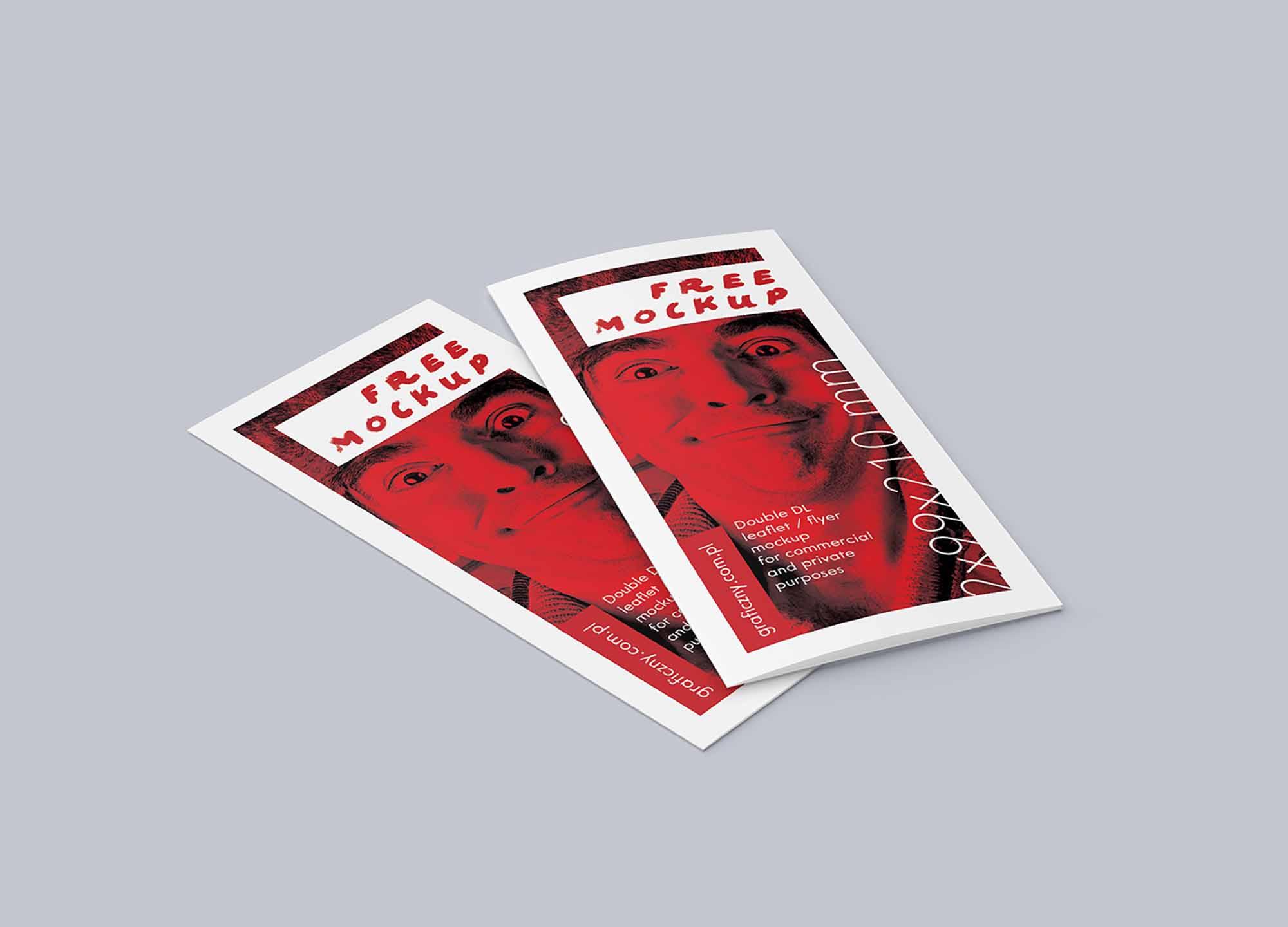DL Bi-fold Leaflet Mockup