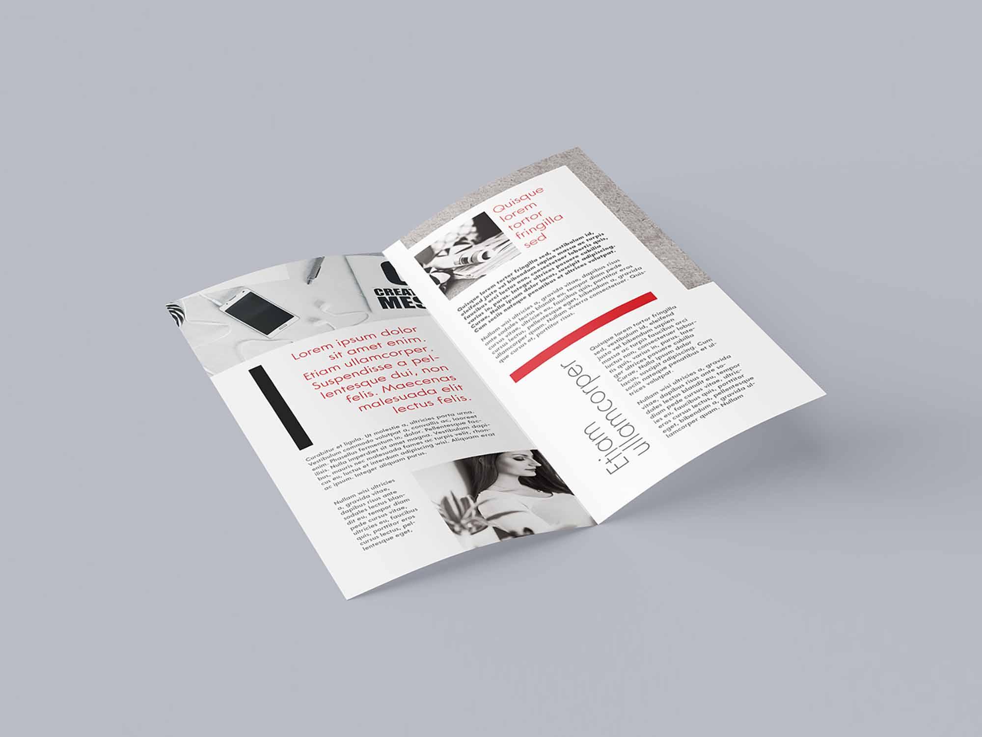 DL Bi-fold Leaflet Mockup 1